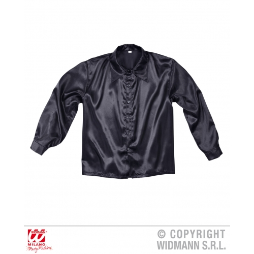 Satin 70s Disco Shirt for 60s Fancy Dress