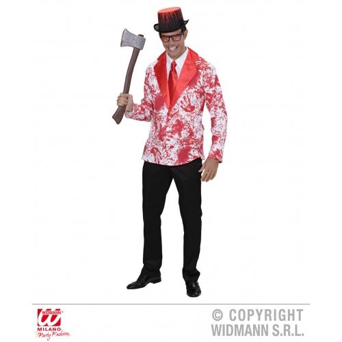 Bloody Jacket for Psychopath Serial Killer Fancy Dress