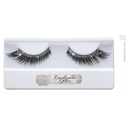 Eyelashes with Stardust Makeup for Accessory Stage Accessory
