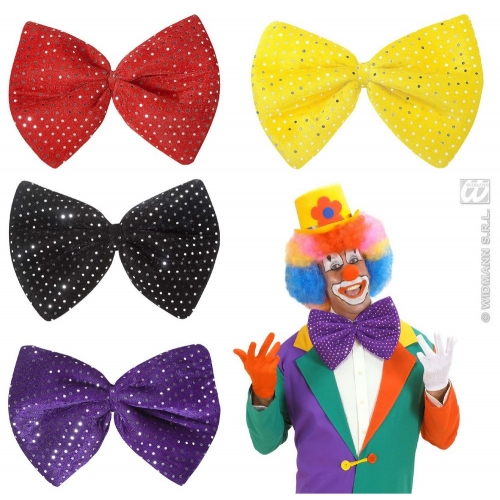 Maxi Bow Tie for Circus Clown Fancy Dress