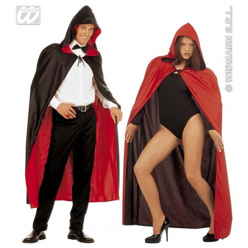 Hooded Cape Reversible for Wizard School Fancy Dress