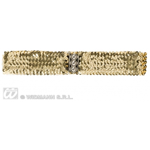 Sequin Belt for 70s Disco Fancy Dress