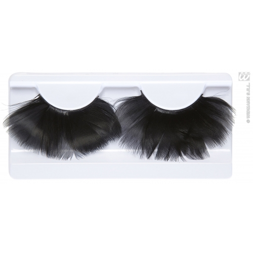 Feather Eyelashes Makeup for 20s Flapper Moll Stage Accessory