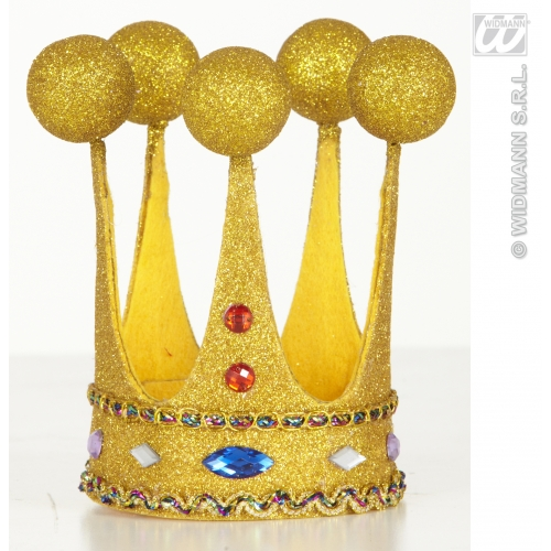 Mini Glitter Crowns With Gems Hat for Regal Royal King Queen Fancy Dress