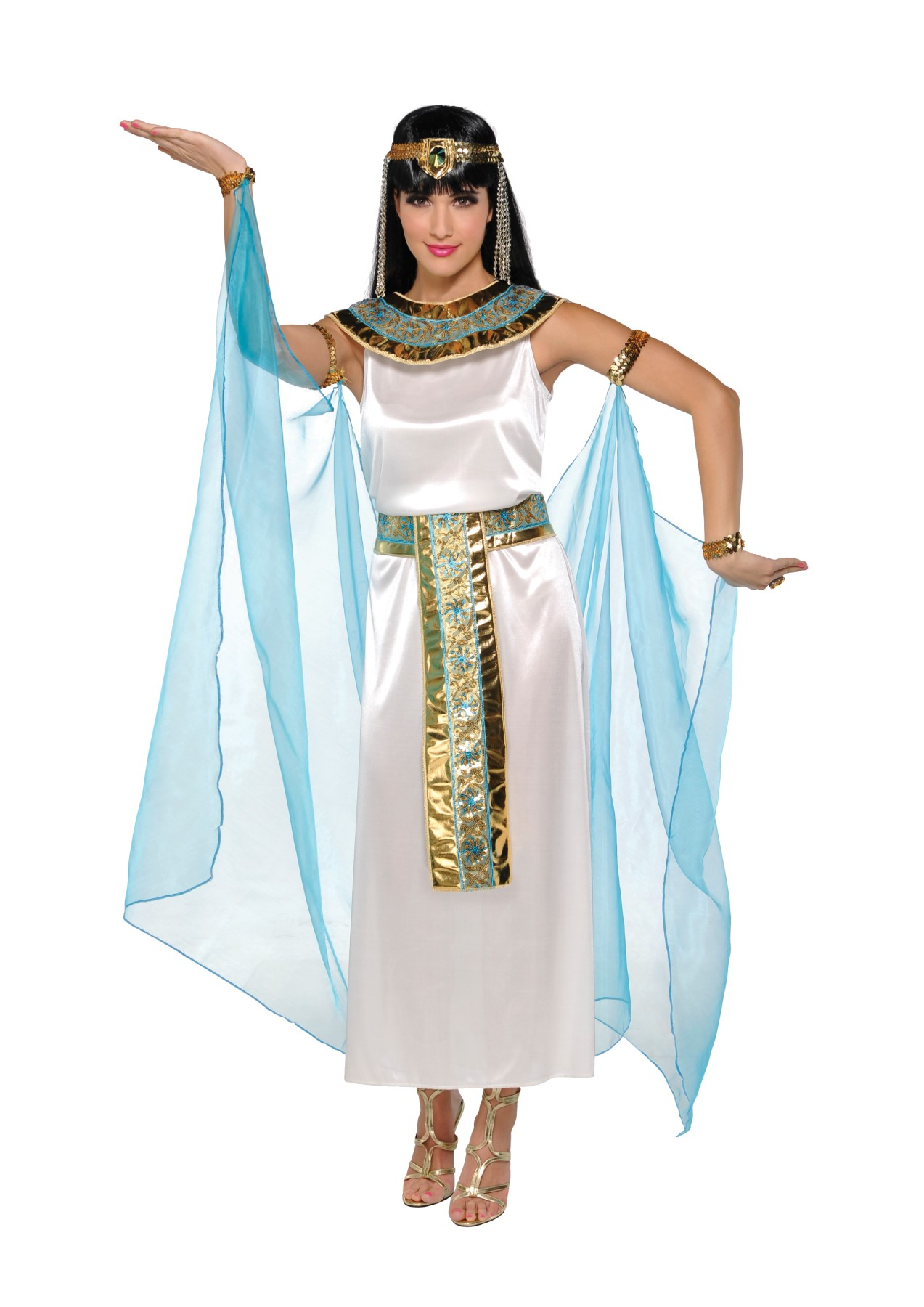 Beautiful  Greek Goddess Egyptian Fancy Dress Womens Halloween Costume L  EBay
