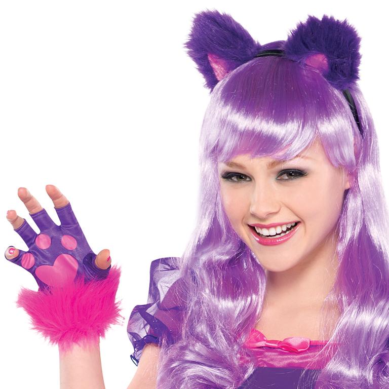 Teen Girls Purple Cheshire Cat Costume - Party City