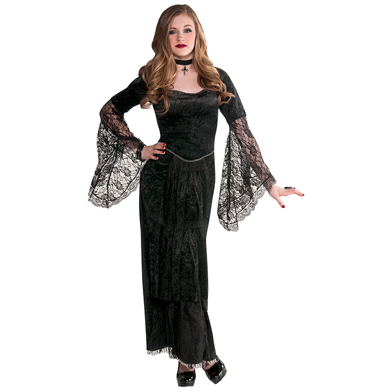 teen gothic temptress costume for emo fancy dress outfit ebay. Black Bedroom Furniture Sets. Home Design Ideas