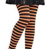 Tights Stripey Striped Orange & Black Accessory for Lingerie Fancy Dress
