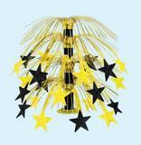 Star Cascade Centerpiece Black/Gold Party Decoration