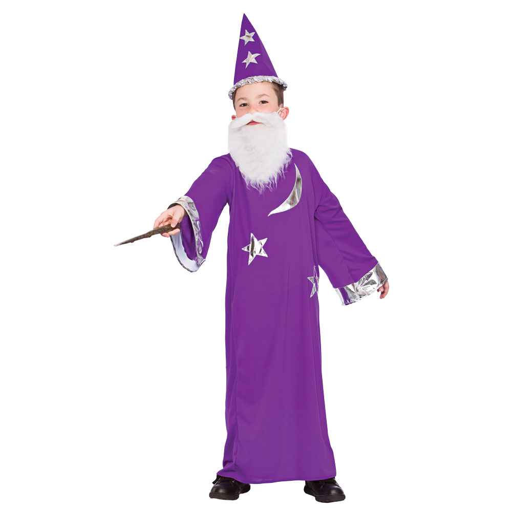 Boys Wizard Costume for Merlin Magician Potter Fancy Dress ...