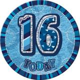 Blue Prismatic Badge Age Birthday Party Decorations Badge