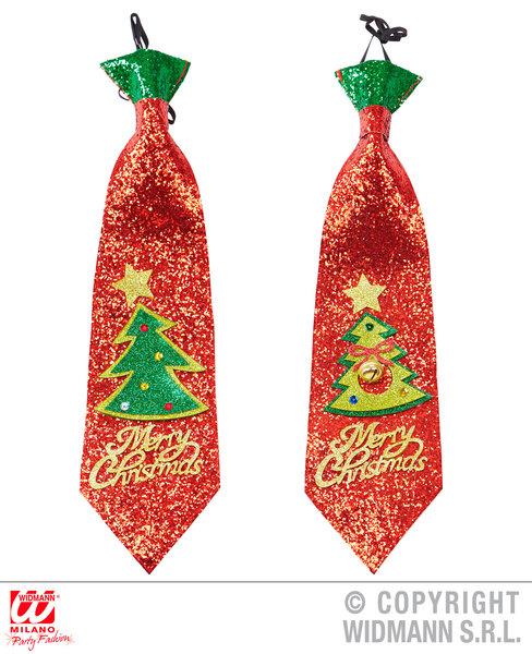 TIE - 1 of 2 colors ass GLITTER CHRISTMAS TREE SFX for Festive Xmas Nativity Cos