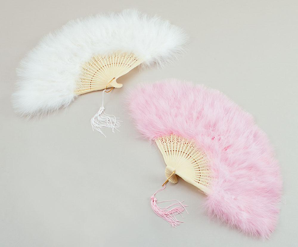 Feather Fan Fan Accessory for Maid Cleaner Fancy Dress