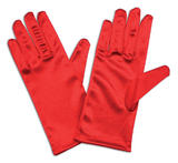 """Gloves Satin 9"""" Gloves Accessory for 50s 60s Hollywood Fancy Dress"""