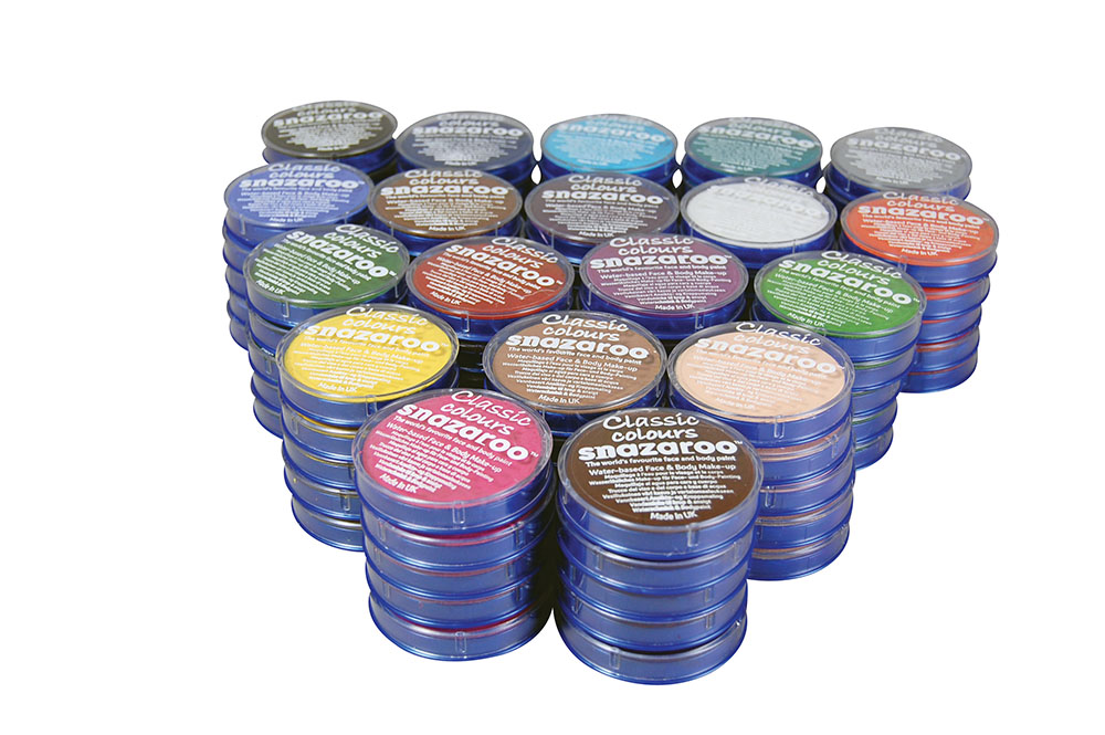 5 x Snazaroo 18 ml Tubs Makeup Accessory for Halloween SFX Fancy Dress