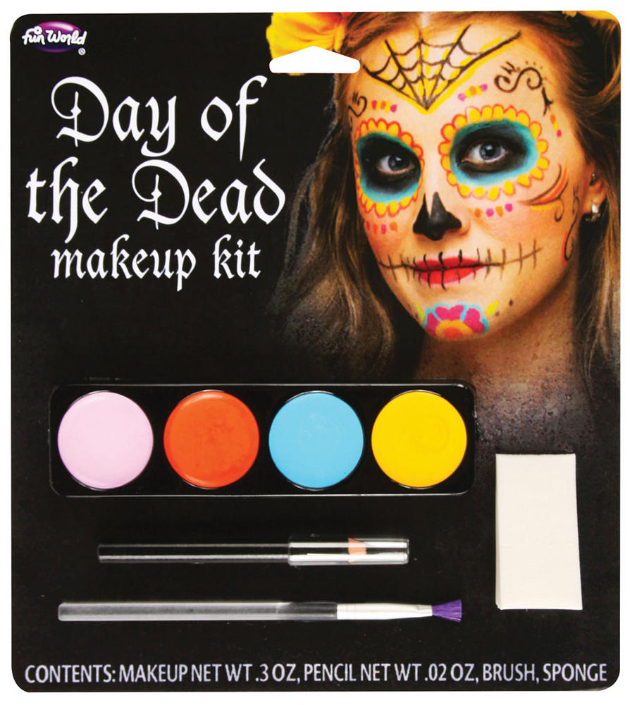 Day Of The Dead Make Up Kit Makeup Accessory for Halloween Zombie Fancy Dress