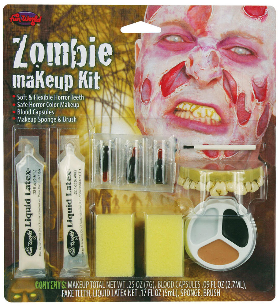 Zombie Make Up Kit Makeup Accessory for Halloween Living Dead Fancy Dress