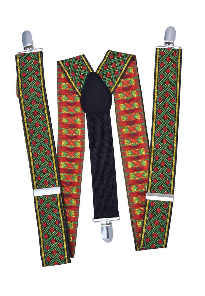 Santa Braces Deluxe Braces Accessory for Christmas Fancy Dress Braces