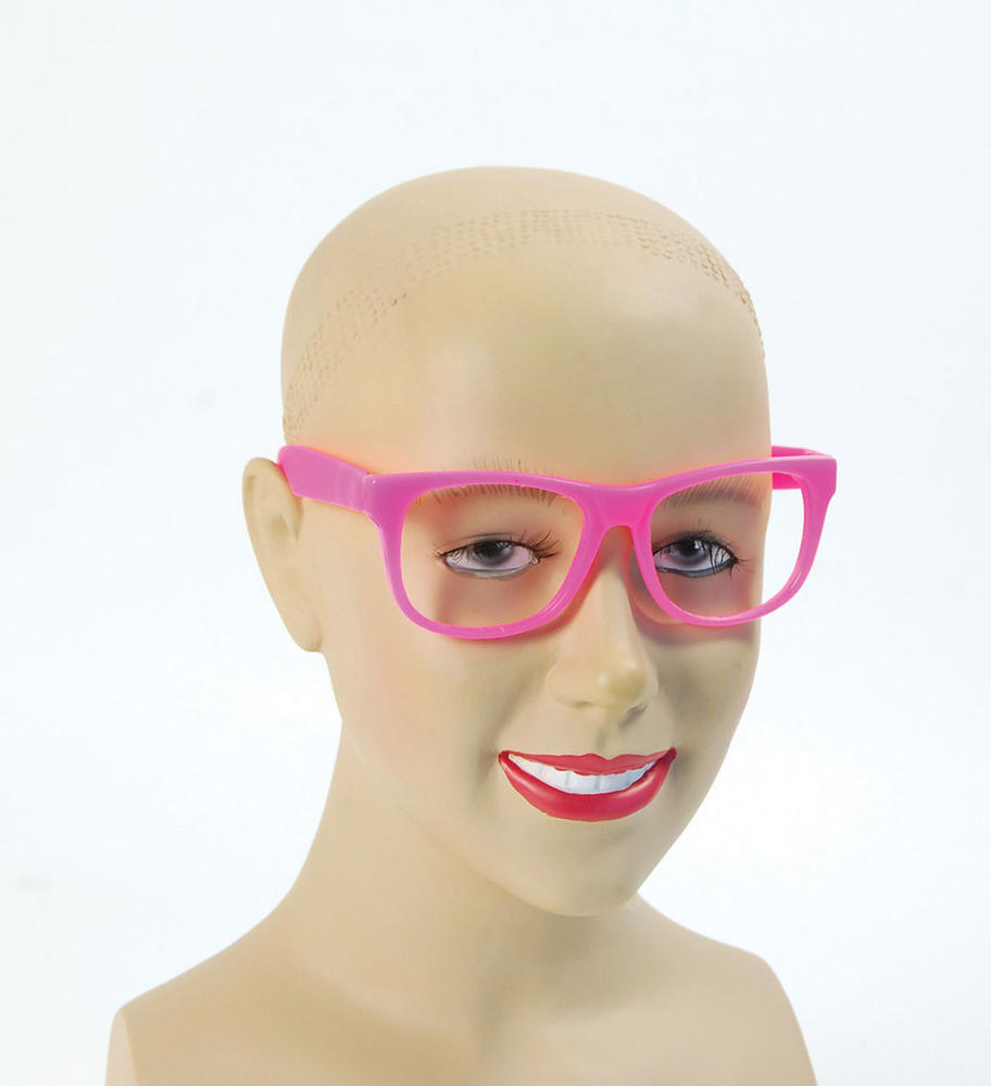 Pink Frame Glasses Glasses Accessory for 50s 60s Dame Edna Fancy Dress Glasses