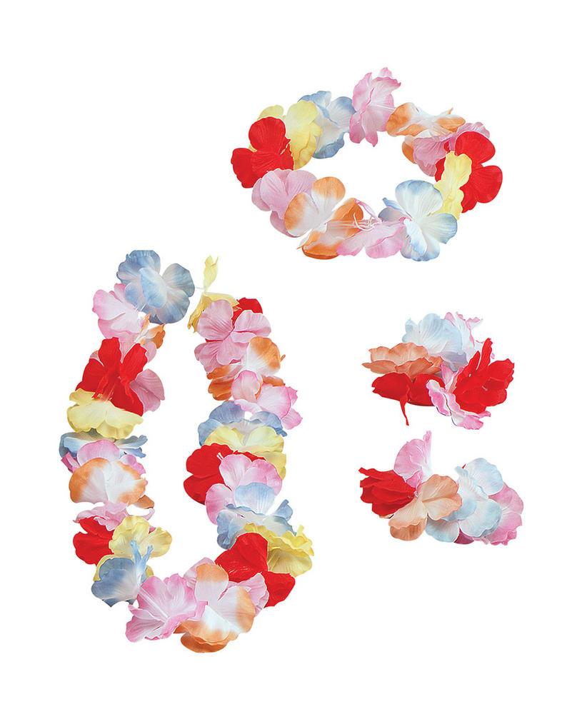 Hawaiian Leis Silk flowers Leis Accessory for Tropical Beach Fancy Dress Leis