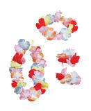Hawaiian Leis Silk flowers Leis Accessory for Tropical Beach Fancy Dress Leis
