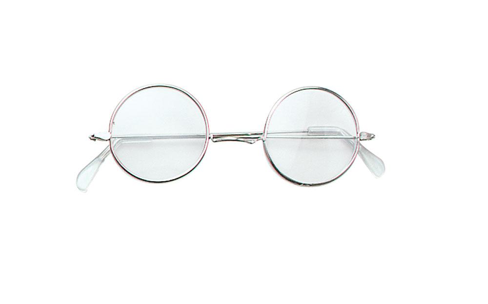John Lennon Specs Clear Glasses Accessory for 60s 70s Hippie Fancy Dress Glasses
