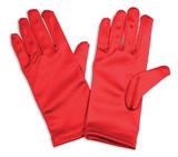 Gloves Childs Red Gloves Accessory for Fancy Dress Gloves