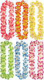 Hawaiian Leis + Beads (6 Asstd Colours) Leis for Tropical Beach Fancy Dress Leis