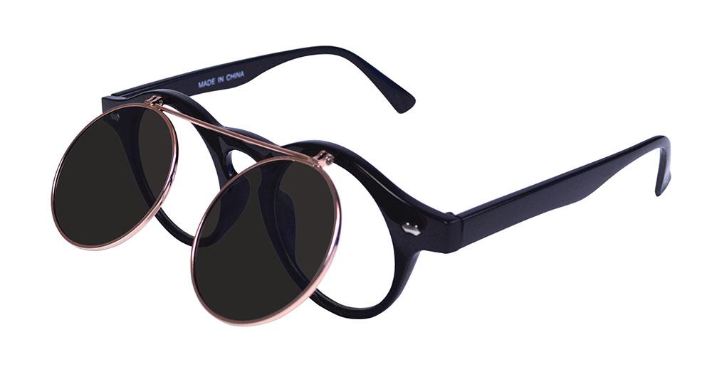 Steam Punk Flip Up Glasses Glasses Accessory for 00s Rock Rockabilly Fancy Dress