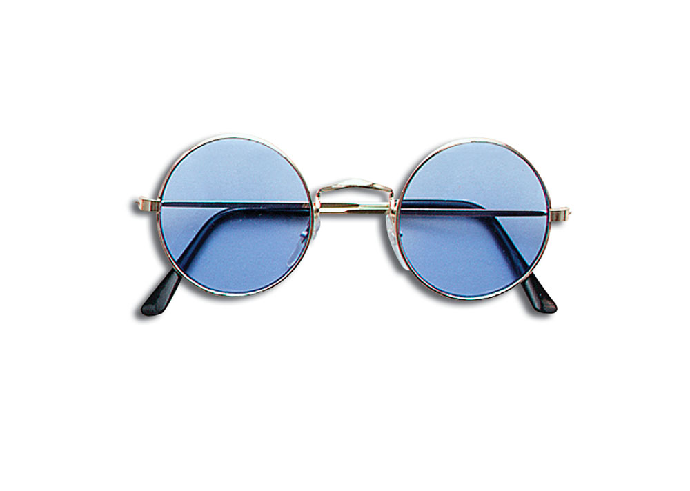 Lennon Glasses - Blue Glasses Accessory for 60s 70s Hippie Fancy Dress Glasses