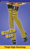 Bumble Bee Stockings Lingerie Accessory for Insect Bug Creature Fancy Dress Ling