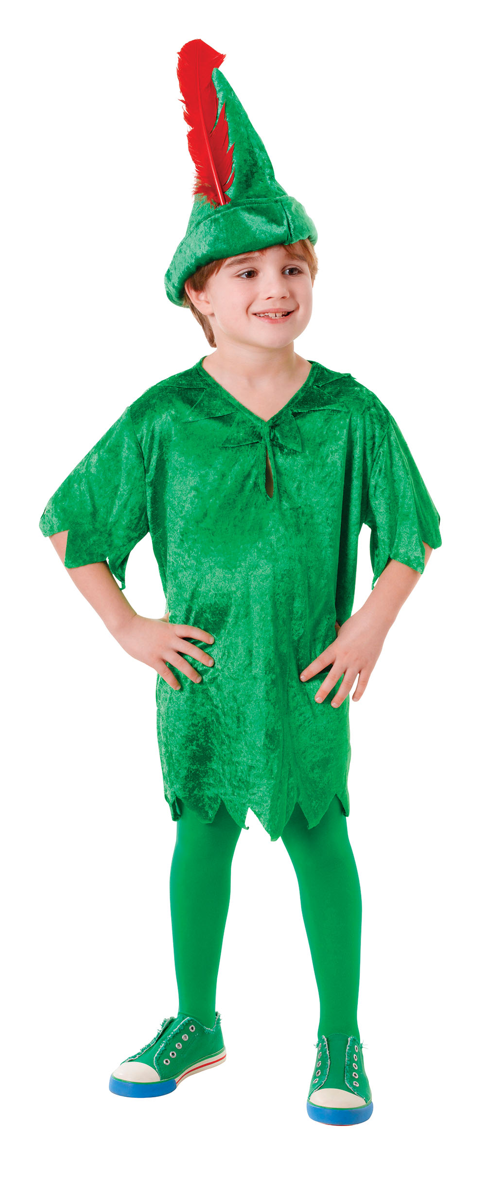 boys peter pan deluxe costume neverland pan fancy dress. Black Bedroom Furniture Sets. Home Design Ideas