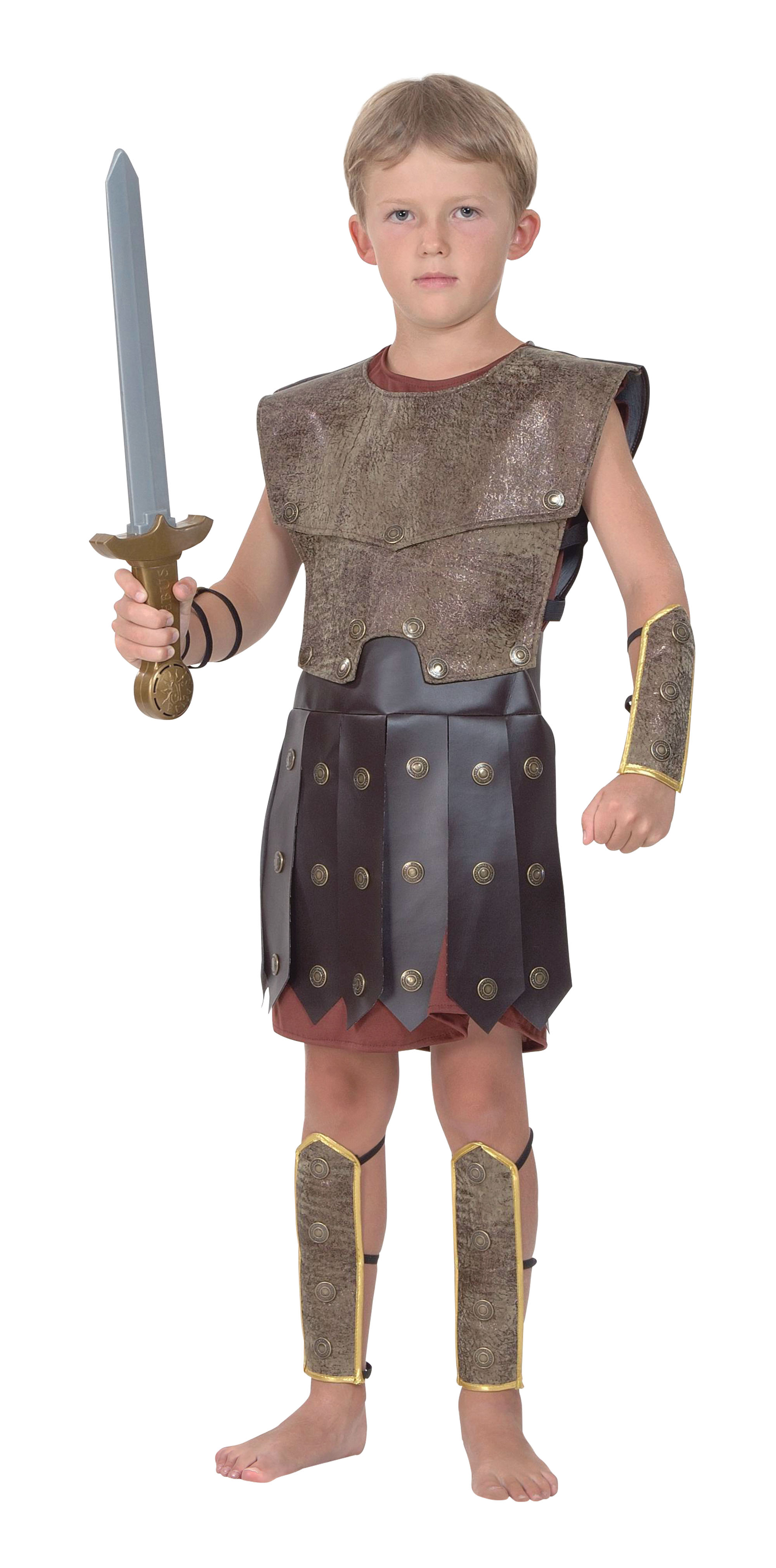 Boys Warrior Costume for Viking Roman Soldier Fancy Dress ...