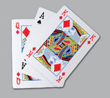 Playing Cards Extra large (A4) Joke for Poker Vegas Gambling Party Joke