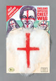 England Hairy Chest Prosphetics for St George World Cup Euro 2016 Fancy Dress Pr
