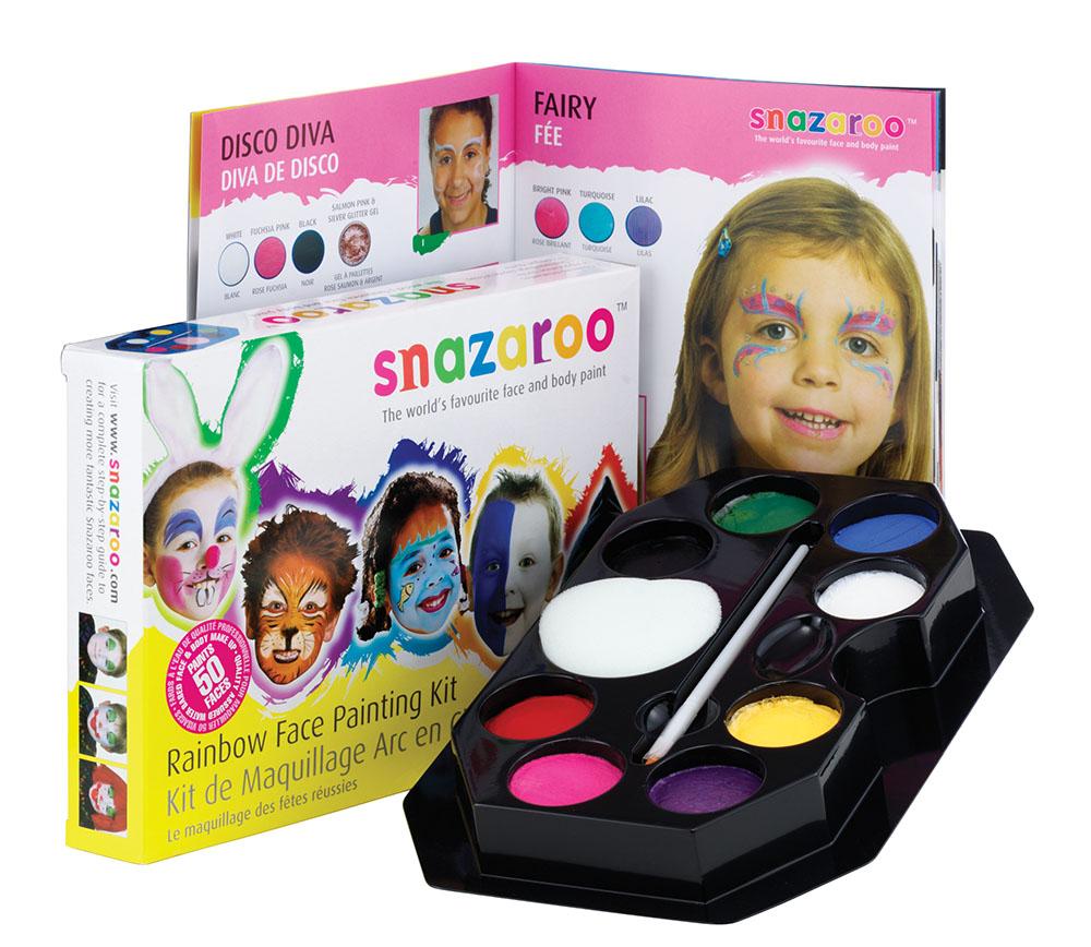 Snazaroo Rainbow Make Up Kit Makeup Accessory for Halloween SFX Fancy Dress Make