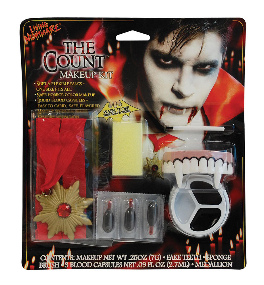 Count Makeup Living Nightmare Makeup for Vampire Dracula Fancy Dress Makeup