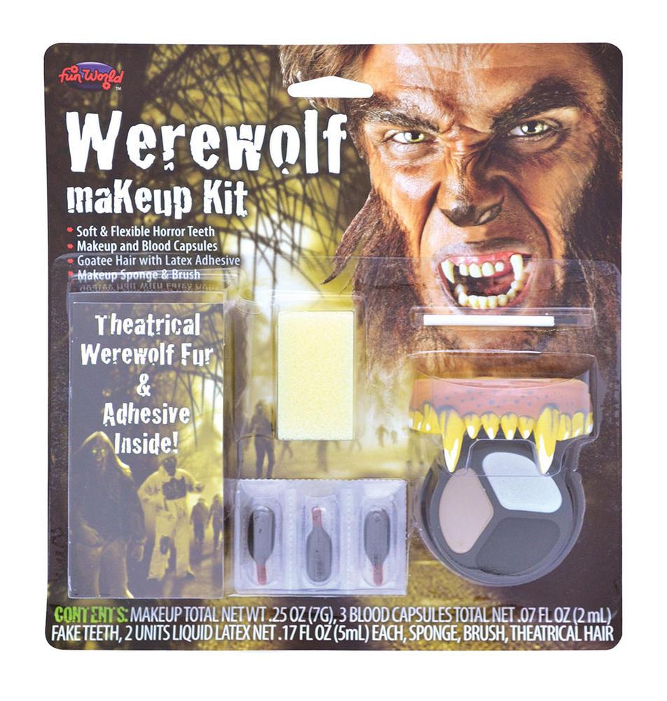 Werewolf Make Up Kit Makeup Accessory for Halloween Fancy Dress Makeup