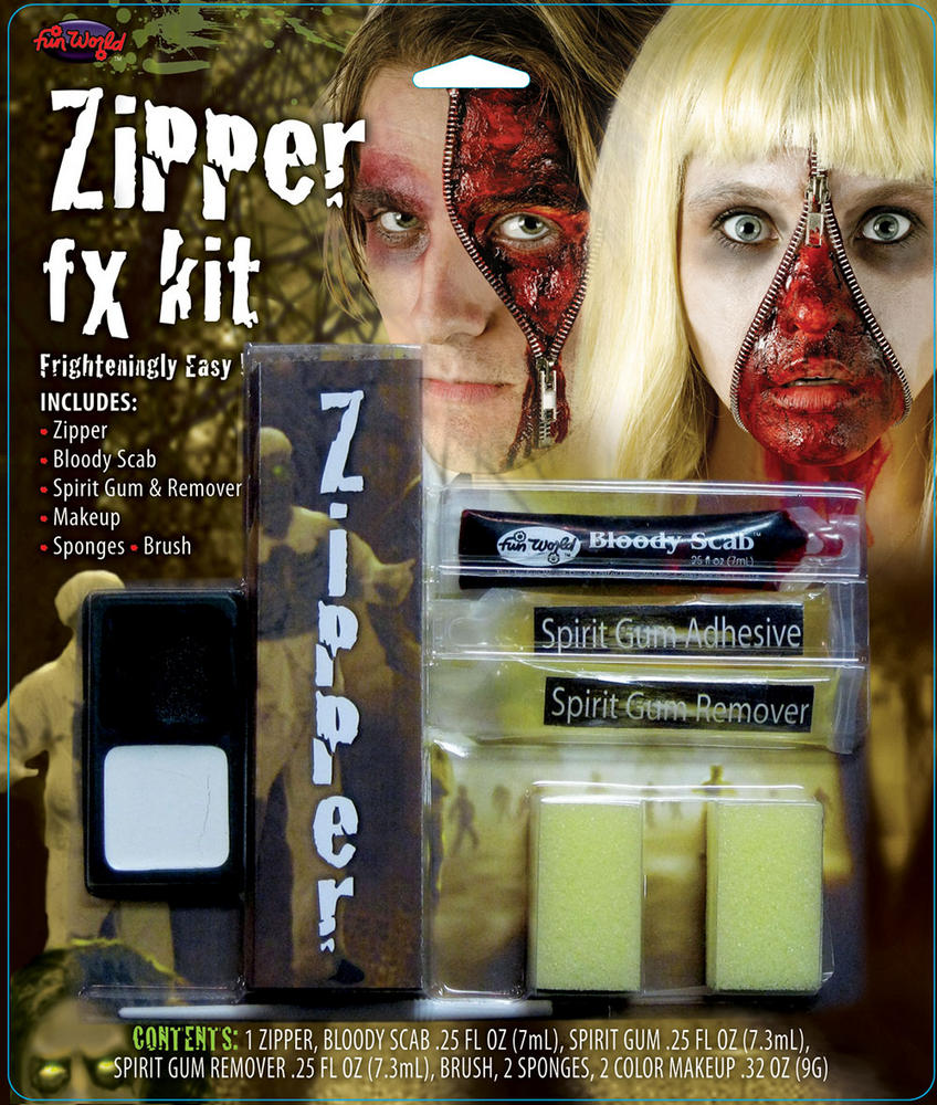 Zipper FX Kit Makeup Accessory for Halloween Fancy Dress Makeup