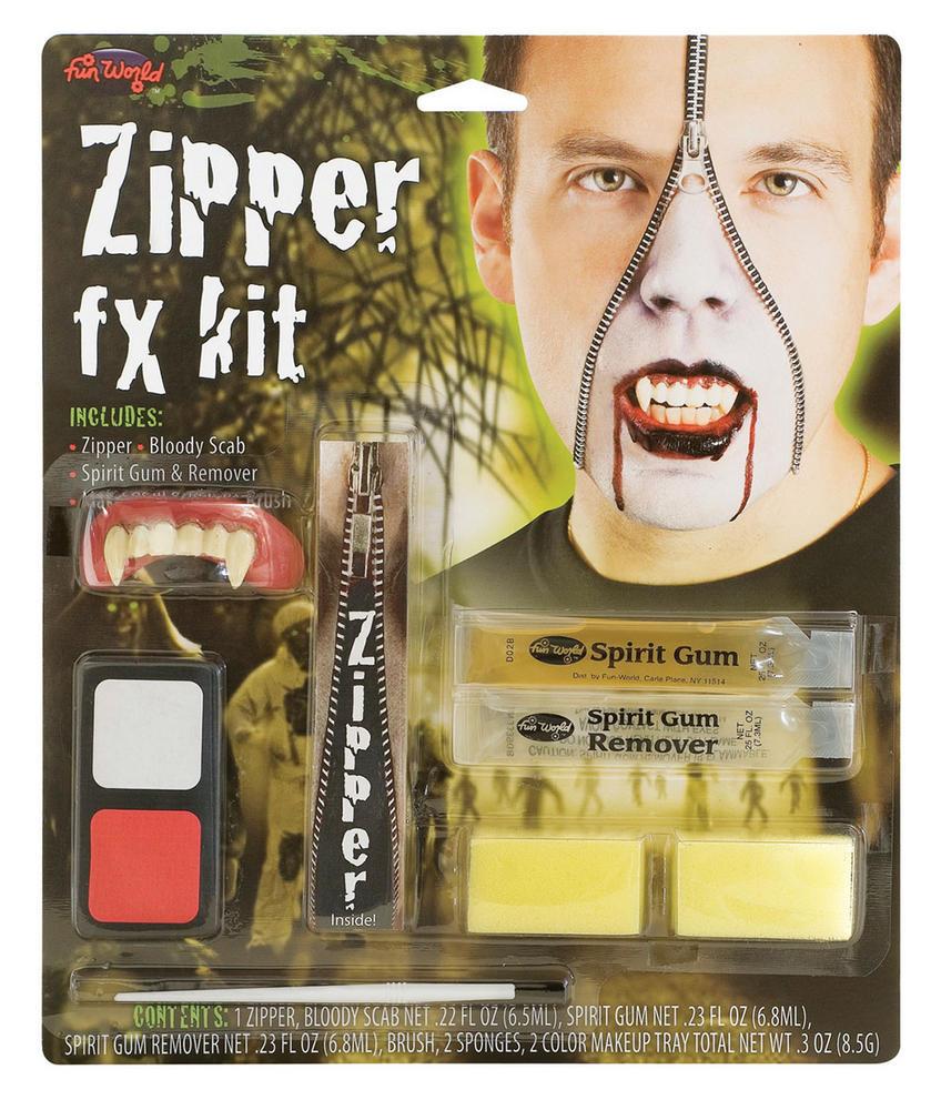 Zipper FX Kit Vampire Makeup Accessory for Halloween Fancy Dress Makeup