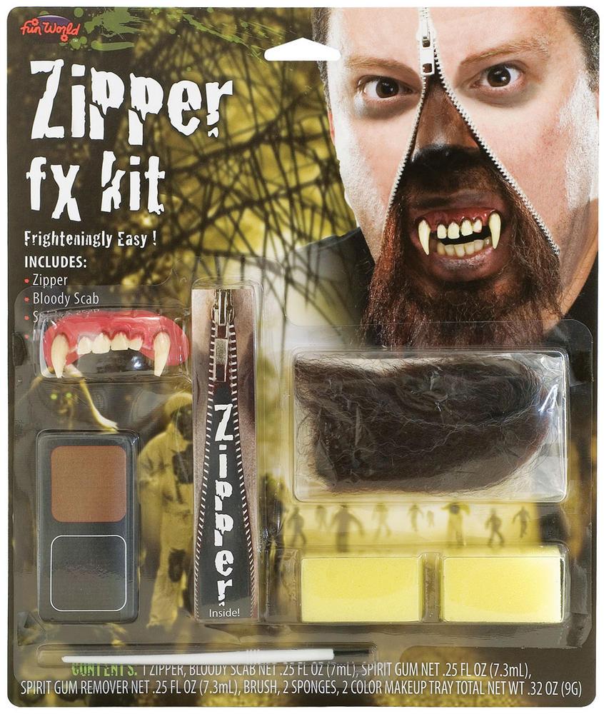 Zipper FX Kit Werewolf Makeup Accessory for Halloween Fancy Dress Makeup