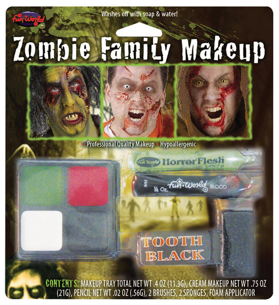 Zombie Character Make Up Kit Makeup for Living Dead Fancy Dress Makeup