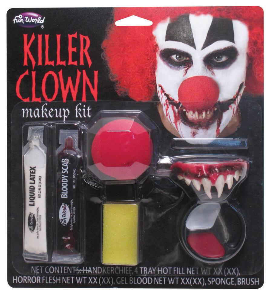 Killer Clown Make Up Kit Makeup Accessory for Circus Fancy Dress Makeup