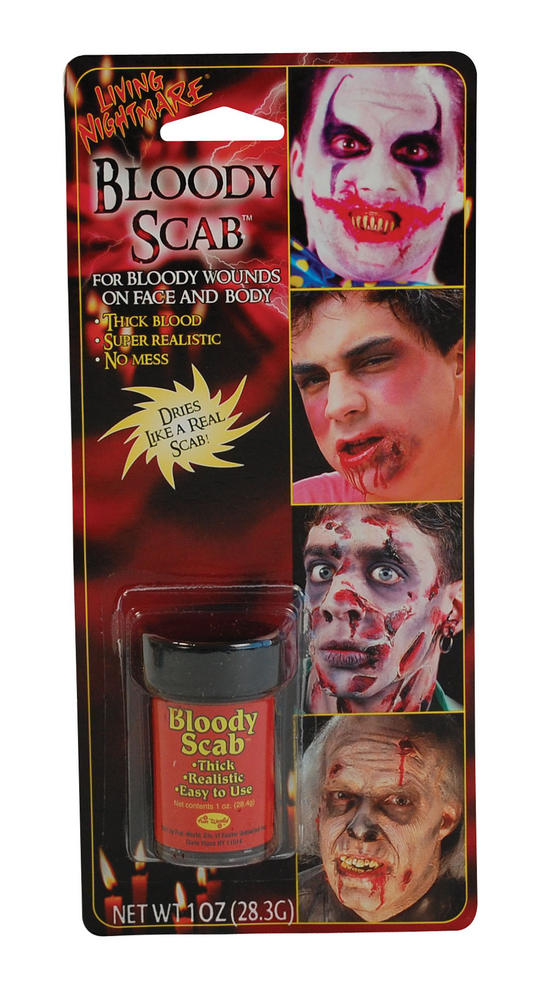 Bloody Scab Make Up Kit Makeup Accessory for Halloween Zombie Fancy Dress Makeup