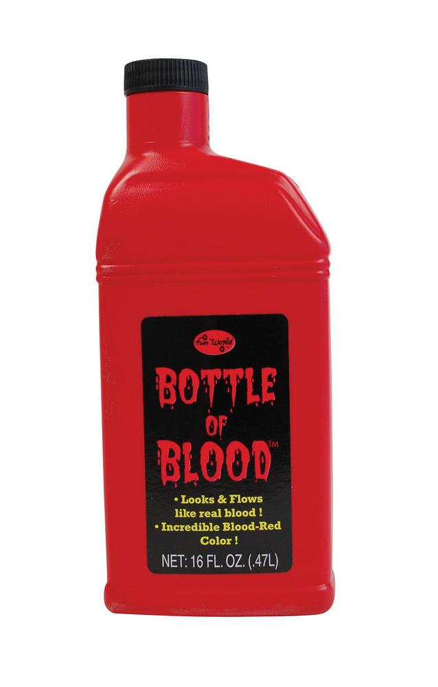 Bottle Of Blood (0 5L) Makeup Accessory for Vampire Dracula Fancy Dress Makeup