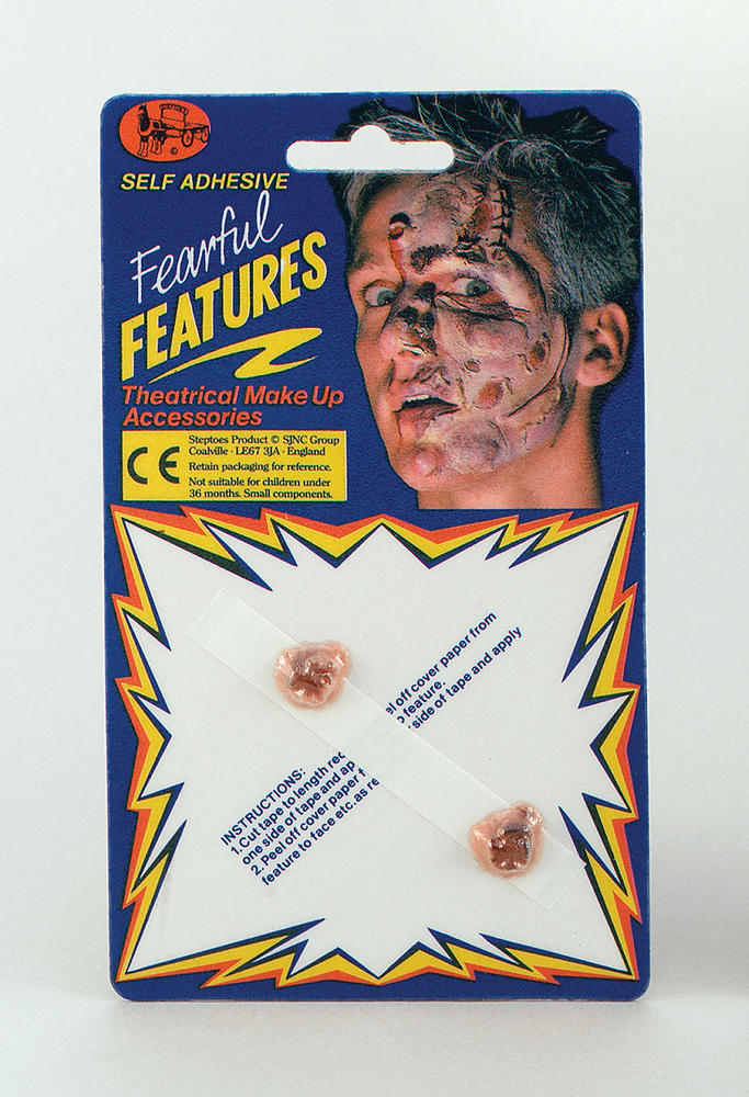 Warts 2 In Packet SFX Makeup Accessory for Witch Halloween Fancy Dress SFX Makeu