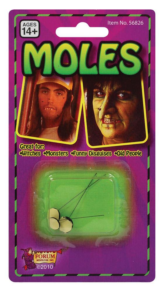 Moles SFX Makeup Accessory for Halloween Warts Witch Fancy Dress SFX Makeup