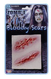 Zombie 2 Wound Scars SFX Makeup Accessory for Halloween Living Dead Fancy Dress
