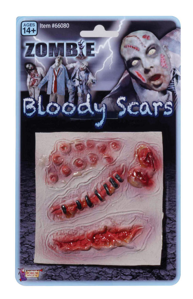 Zombie Assorted Scars SFX Makeup Accessory for Halloween Living Dead Fancy Dress