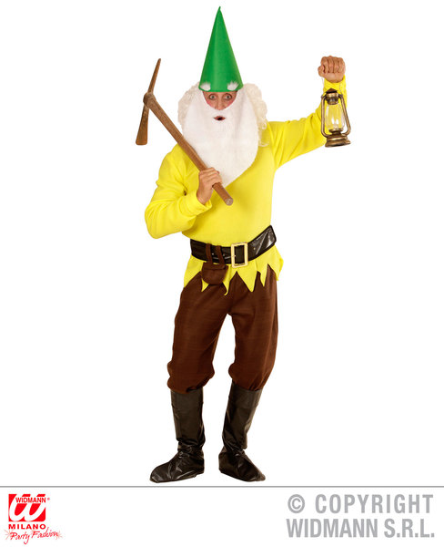 Mens-YELLOW-GNOME-Costume-for-Garden-Elf-Dwarf-Orc-Goblin-Fancy-Dress-Outfit